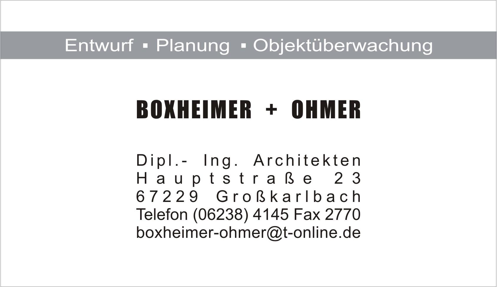 Architekturbüro Boxheimer und Ohmer
